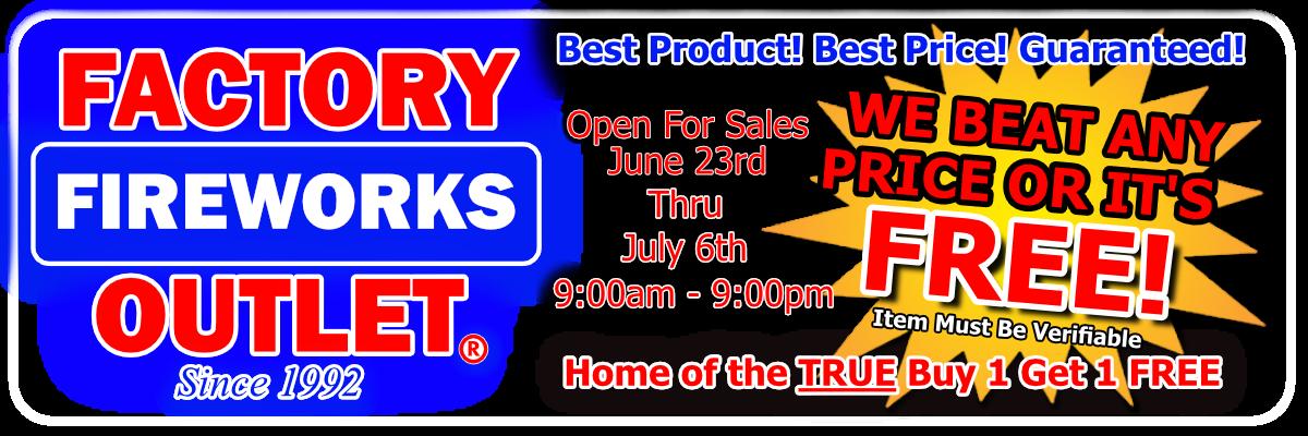 Factory Fireworks Outlet Safety Tips - Eugene / Springfield